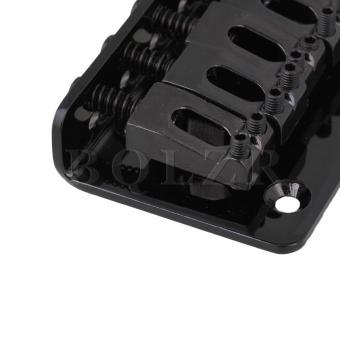 6 string Fixed Hard Tail Guitar Bridge Black - 5