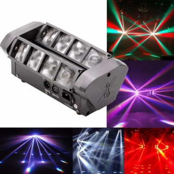 60W Moving Head Stage Light Mini Spider 8x5W RGBW LED Disco DJ Party Club Light DMX Dual Strobe Effect for DJ Live Concert Lighting - intl