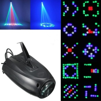 64 RGBW 10W LED Stage Light Effect Laser Projector Party Disco Club Bar DJ Lamp - intl
