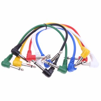 6PCS Effect Pedal Audio Plug Patch AMP Cable Lead Angled for Guitar Cord