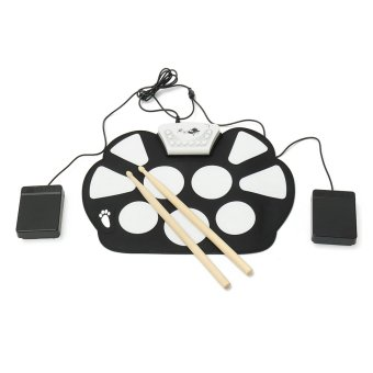 6Pcs Foldable USB Electronic Roll up Drum Pad Silicon Kit Set Musical Instrument - intl