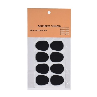 8pcs Alto/ Tenor Saxophone Sax Mouthpiece Cushions Patches Pads Silicone Material Thickness 0.8mm - intl