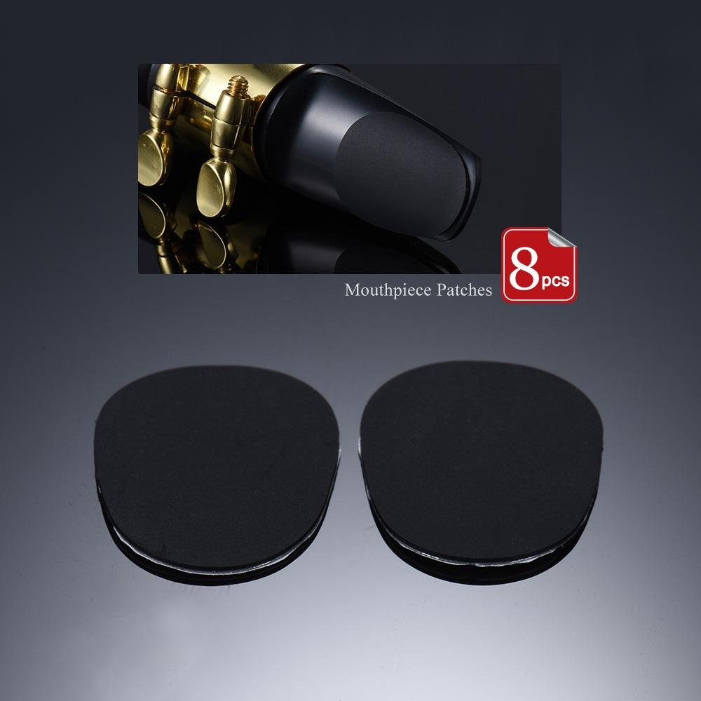 8pcs Alto/ Tenor Saxophone Sax Mouthpiece Cushions Patches Pads Silicone Material Thickness .