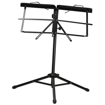 Adjustable Metal Music Sheet Stand Folding Stands for Musicians Black