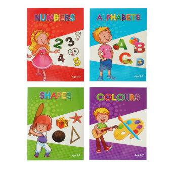 Alphabet, Colours, Numbers, and Shapes Educational ChildrenActivity Book Set of 4