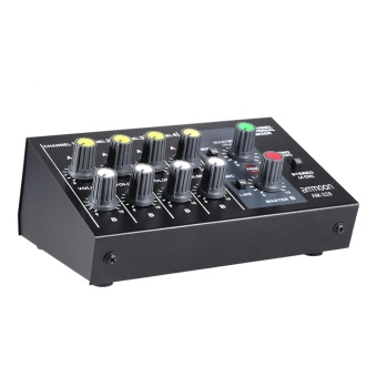 ammoon AM-228 Ultra-compact Low Noise 8 Channels Metal Mono StereoAudio Sound Mixer with Power Adapter Cable - intl