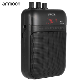 ammoon AMP -01 5W Guitar Amp Recorder Speaker TF Card Slot CompactPortable Multifunction - intl Price Philippines