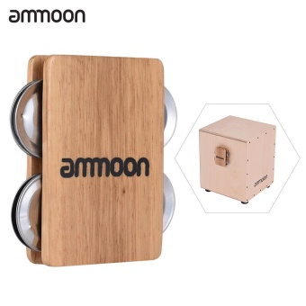 ammoon Cajon Box Drum Companion Accessory 4-bell Jingle Castanetfor Hand Percussion Instruments - intl Price Philippines