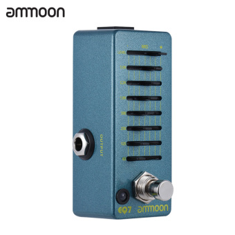 ammoon EQ7 Mini Guitar Equalizer Effect Pedal 7-Band EQ Aluminum Alloy Body True Bypass - intl