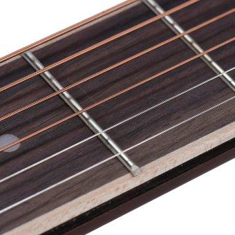ammoon Portable Pocket Acoustic Guitar Practice Tool Gadget ChordTrainer 6 String 4 Fret Model Rosewood Fretboard Wood Grain forBeginner Learner - intl - 3