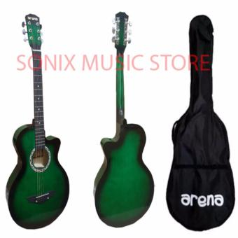 Arena Acoustic Guitar (Green) Free Bag Price Philippines