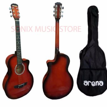 Arena Acoustic Guitar Red with Bag