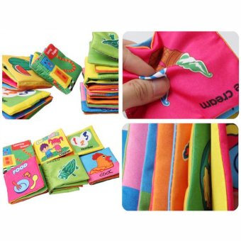 Baby Soft Squeaky Cloth Book (Number) - 3