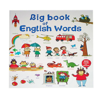 Big Book of English Words Educational Book for Kids