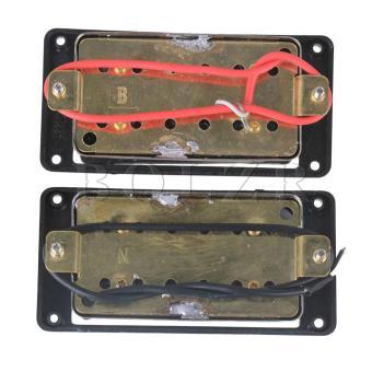 Black Round Screws N/B Humbucker Pickups for Electric Guitar Set of2 - Intl - 2