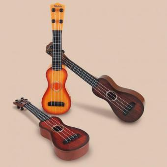 BolehDeals 4 Strings Musical Plastic Toy Ukulele Small Guitar For Beginners Kids Child - intl - 4