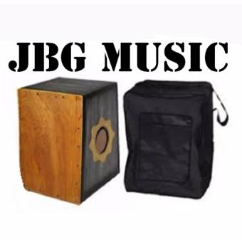 Cajon Beat Box with Pickup FREE GigBag and Cable Cord(Black)