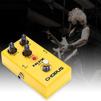 CH - 3 Chorus Guitar Effect Pedal True Bypass Design Guitar Amp(Yellow) - intl