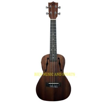 CHORD F-hole Ukulele with active pick up (Mahogany)