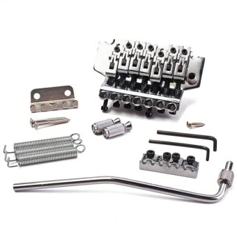 Chrome Electric Guitar Tremolo Bridge Double Locking System forStrat ST Style Guitar Replacement