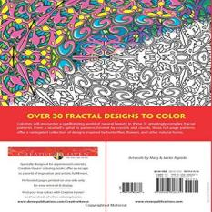 Creative Haven Insanely Intricate Phenomenal Fractals Coloring Book Adult