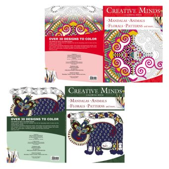 Creative Minds Coloring Books for Adults 1 & 2