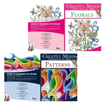 Creative Minds Coloring Books for Adults 7 & 8