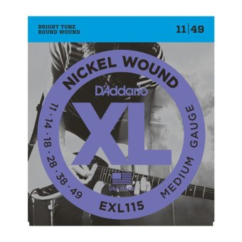 D'Addario EXL115 Medium/Blues-Jazz Rock 11-49 Nickel Wound