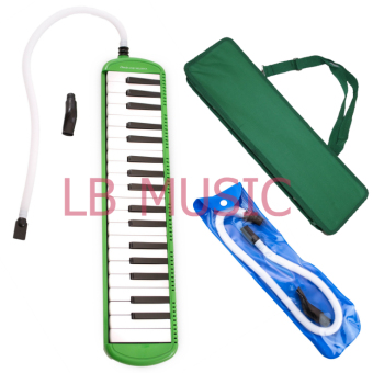 Davis 37 Keys Melodica with extra Tube and Mouthpiece Package(Green)