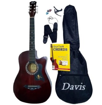 Davis Acoustic Guitar Starter Package (Brown) - picture 2