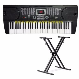 Davis D-619 61-Keys Digital Electronic Keyboard Piano Organ w/Heavyduty stand Package