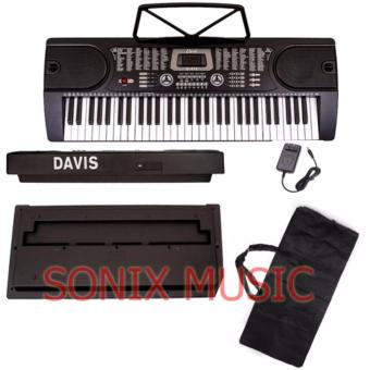 Davis D-619 61-Keys Digital Electronic Keyboard Piano Organ w/Keyboard Bag Package