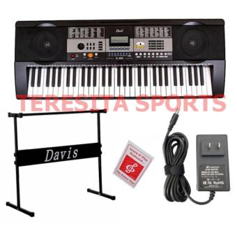 Davis D-809 61-Keys Digital Electronic Keyboard Piano Organ w/stand Package (Black)