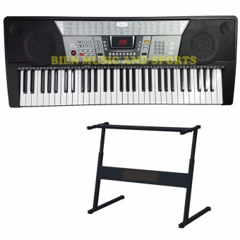 Davis D-818 61-Keys Digital Electronic Keyboard Piano Organ w/stand Package (Black)