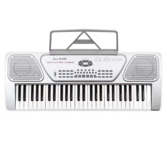 Davis D678 Digital Electronic Keyboard (Silver)