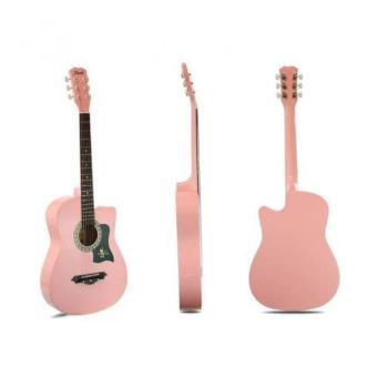 Davis Guitar JG-38 Acoustic Guitar ( Pink ) with FREE Guitar Bagand Guitar Pick Price Philippines