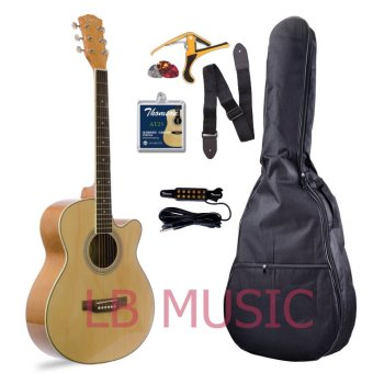 Davis Medium Size Acoustic Guitar w/ Detachable Pickup (Natural)