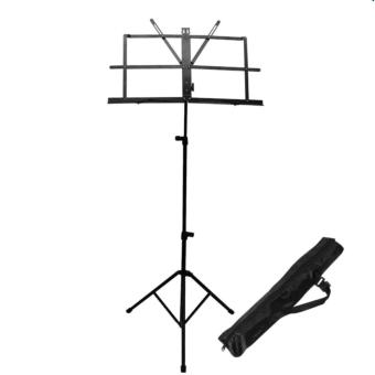 Davis Music Stand Folding Music Stand Adjustable with Carrying Bag(Black)