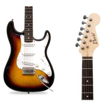 Davis Stratocaster with Portable Amplifier Electric Guitar PackageST-1 (Sunburst) - 3