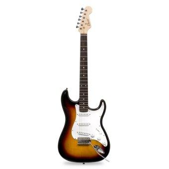 Davis Stratocaster with Portable Amplifier Electric Guitar PackageST-1 (Sunburst) - 2