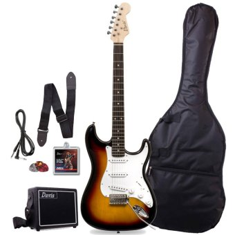 Davis Stratocaster with Portable Amplifier Electric Guitar PackageST-1 (Sunburst)
