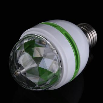 E27 3W Colorful Auto Rotating RGB LED Bulb Stage Light Party LampDisco - intl - 5