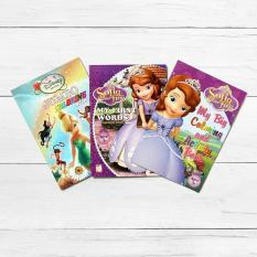 Easy To Learn Books Sofia The 1st And Disney Fairies 3 Piece Coloring Book Set