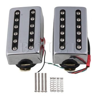 Electric Guitar Humbucker Bridge and Neck Pickups Set of 2 Silver -intl