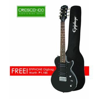 Epiphone ENL2EBCH4 Les Paul Express (Junior Size) Travel Guitar w/ free guitar bag (Ebony)