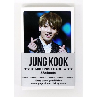 [FAN GOODS] JUNGKOOK BTS BANGTAN BOYS - MINI POSTCARD PHOTOCARD SET56pcs - intl