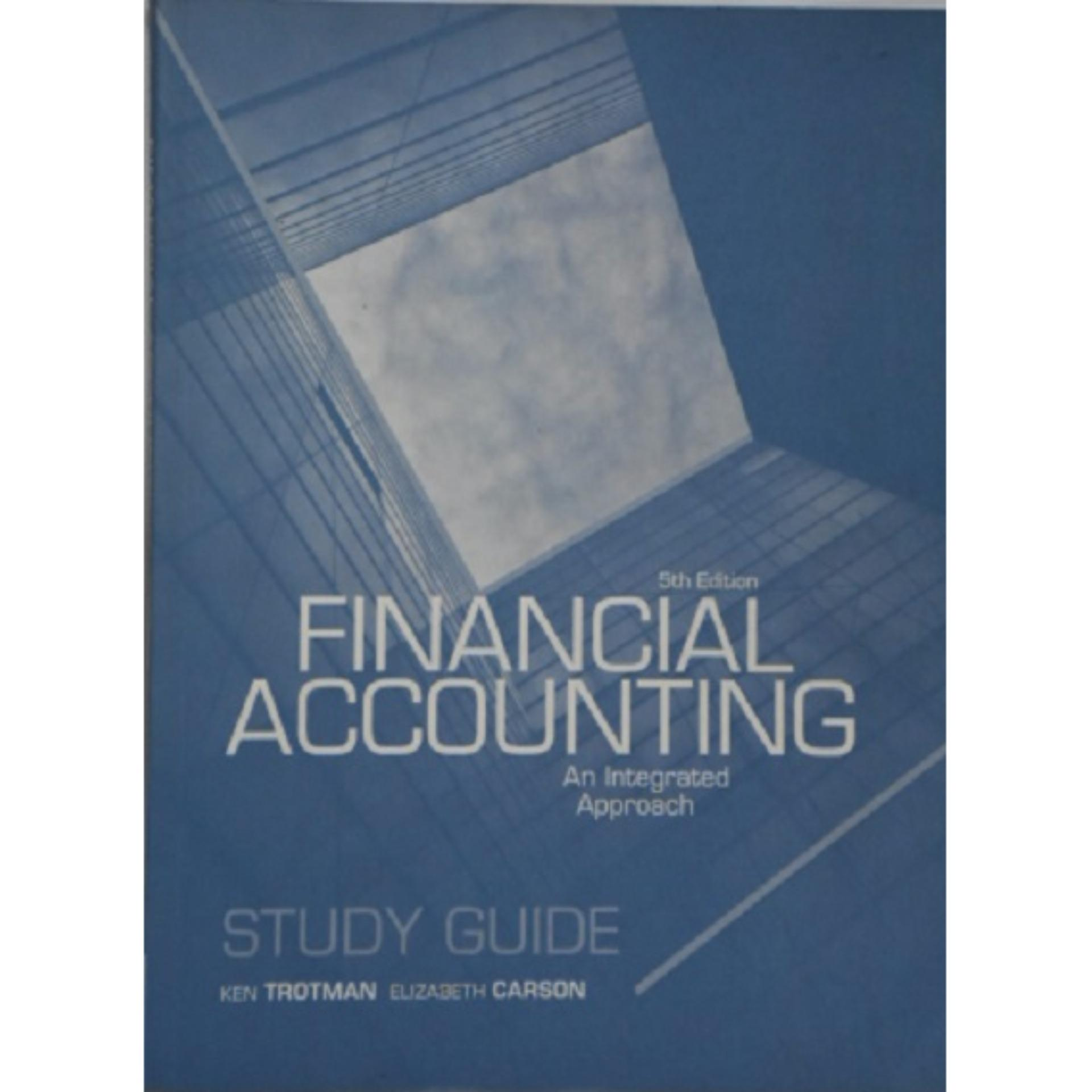 Financial Accounting Student Study Guide 5th Edition