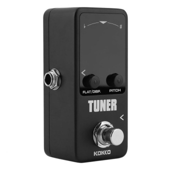 Gift Pedal Tuner Guitar Bass Violin Stringed Instruments Tuner Effect Device Black - intl