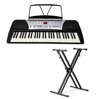 Global GL-444 Electronic Keyboard With Heavyduty Stand (Black) Price Philippines