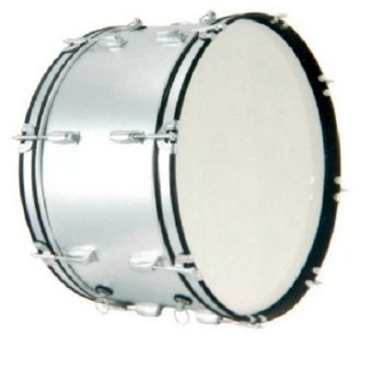 Global Standard Marching Bass Drum (Silver)